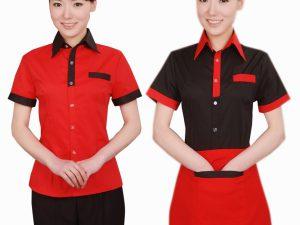 in áo thun đồng phục quán ăn, nhà hàng