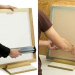 Tẩy khung in lụa đối với keo PVA
